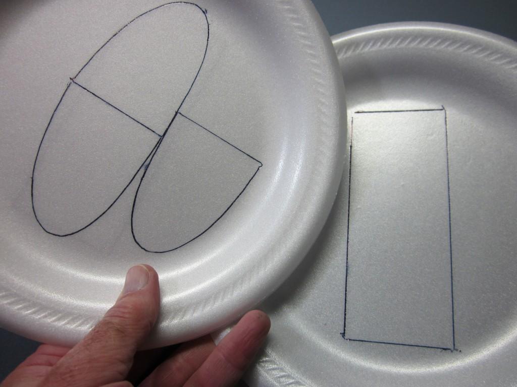Foam Plate Plane 027